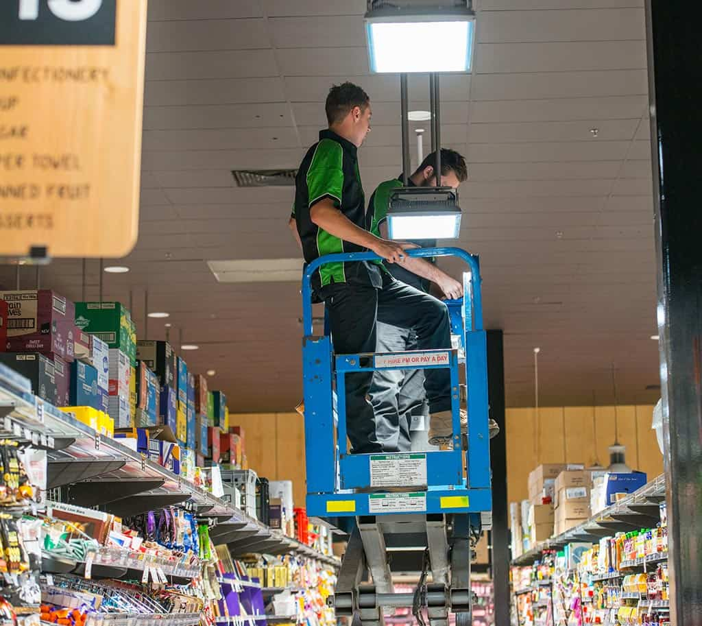 Foodland Pasadena Commercial Electrical Light Installation Adelaide